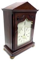Unusual & Rare Mahogany Bracket Clock Taj Mahal Bezel & Dial Mantel Clock (7 of 10)