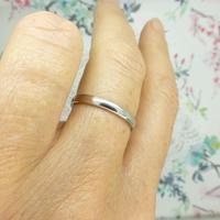 Vintage Art Deco Plain Platinum Wedding Band c1930's ~ Ladies narrow ring size O 1/2 - 7.25 (7 of 9)