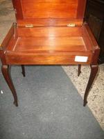 Edwardian Inlaid Mahogany Piano Stool (3 of 5)