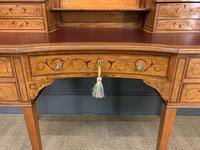 Inlaid Satinwood Carlton House Desk by Jas Shoolbred (15 of 25)