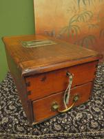 Antique Wooden Shop Till with Pull-out Drawer & Bell (12 of 14)