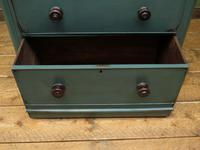 Antique Small Green Painted Chest of Drawers, Bohemian Peacock Green Shabby Chic (11 of 16)