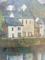 Oil on Canvas Laid on Board by the River Loire Listed Artist John Denahy (8 of 10)