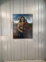 Antique Spanish oil painting study of Madonna and child (10 of 10)