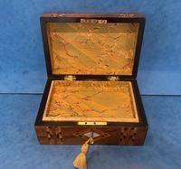 Victorian Walnut & Tunbridge Ware Jewellery Box (10 of 11)