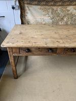 Superb Large 19th Century Pine Kitchen Table (8 of 10)