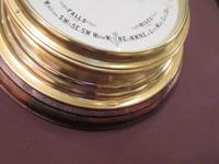 Antique Brass Bulkhead Marine Barometer (5 of 6)