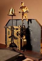 Italian Interest Automaton Large Oak Signed Odo Striking Wall Clock (10 of 11)