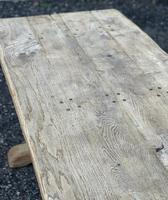 Large French Rustic Bleached Oak Farmhouse Dining Table (22 of 36)