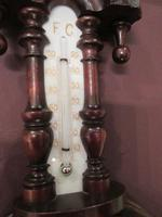 Small Antique Walnut Banjo Barometer (5 of 8)