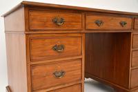 Antique Victorian  Walnut Pedestal Desk (9 of 11)