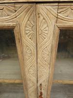 Antique Limed Oak Display Cabinet, Victorian rustic bohemian wall cabinet (2 of 16)