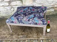 Large French Upholstered Lounge Stool c.1880 (5 of 7)