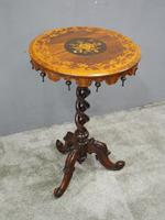 Marquetry Inlaid Walnut Wine Table (2 of 10)