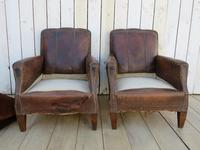 Pair of Antique French Leather Club Chairs (4 of 14)