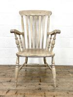 Set of Four Slat Back Antique Kitchen Chairs (7 of 10)
