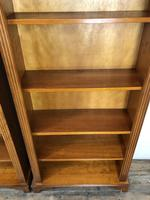 Three Yew Wood Reproduction Bookcases (5 of 9)