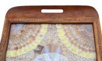 Inlaid Tunbridge Ware Butterfly Serving Tray c.1920 (3 of 5)