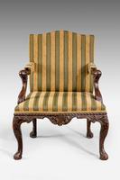 19th Century Mahogany Gainsborough  Armchair (2 of 6)