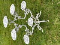 Victorian 19th Century Garden Cast Iron 6 Branch Plant Stand Coalbrookdale Style (20 of 27)