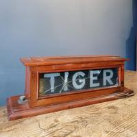 HMS TIGER Mahogany framed illuminated sign. Mid 20th Century militaria (7 of 12)