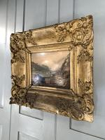 Antique Victorian Landscape Oil Painting in Ornate Gesso Frame (8 of 10)