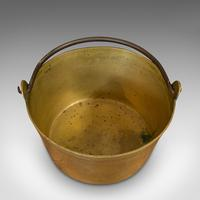Antique Jam Pan, French, Solid Brass, Artisan Kitchen Pot, Victorian c.1900 (6 of 9)