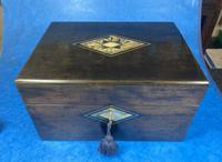 Victorian Ebonised Jewellery Box with Mother of Pearl & Abalone Inlay (13 of 18)