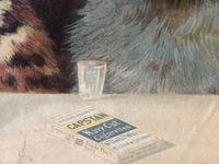 "Victorian Louis Wain Print ""Bachelors Party"" c.1896 Advert for Capstan Cigarettes (6 of 13)"
