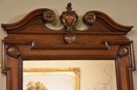 Early 18th Century Black Walnut Carved Wall Mirror (4 of 5)