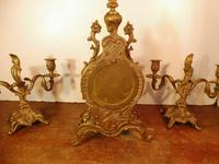 Lancini Franz Hermle clock with candelabras garnitures exactly like Imperial range (2 of 6)