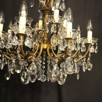 Italian Gilded 12 Light Double Tiered Antique Chandelier (8 of 10)