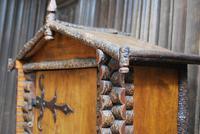 Antique Rustic Swiss Log Cabin Hanging Cupboard (7 of 7)