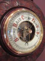 Small Antique Walnut Banjo Barometer (3 of 8)