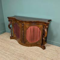 Spectacular Figured Rosewood Serpentine Victorian Antique Credenza (6 of 8)