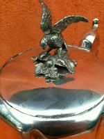 Antique Victorian Silver Plate Teapot C1870 Hand Engraved Folate Patterning with Bird, Maybe Eagle Finial (10 of 11)