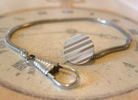 Vintage Pocket Watch Chain 1970s Silver Chrome Snake Link With Dog Clip & Button Hole Fob (2 of 7)