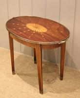 Low Inlaid Oval Table (7 of 9)