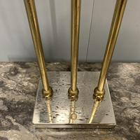 Pair of Chrome & Brass Rodded Table Lamps (5 of 9)