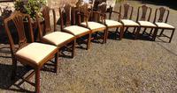 Set of 8 Hepplewhite Style Mahogany Dining Chairs (2 of 12)