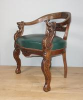 Carved Oak Victorian Desk Chair (2 of 9)