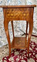 Pair of French Parquetry / Marquetry Side Tables (15 of 20)