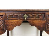 Antique 19th Century Carved Oak Lowboy Side Table (12 of 17)