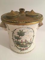 Antique Porcelain Ink Pot & Pen Holder
