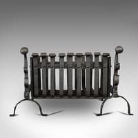 Antique Fire Basket, Andirons, Cast Iron, Fireside, Grate, Fire Dogs, Victorian (2 of 9)