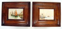Pair of Early 20th Century Watercolours, Coastal Scene with Boats F&G, inits (4 of 10)