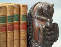 Good Pair of 18th Century Indian Carved Horse Head Bookends (6 of 9)