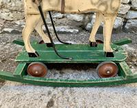 Antique Wooden Push Along Rocking Horse Toy (10 of 19)
