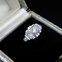Art Deco French Sterling Silver Spinel Dress Ring (2 of 10)