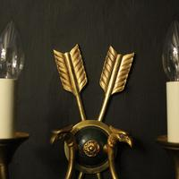 French Set Of 3 Empire Antique Wall Lights (5 of 10)